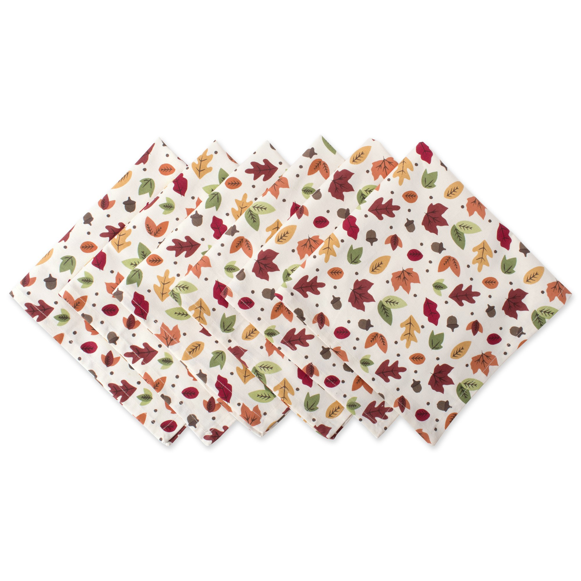 DII Oversized Napkin for Fall Holidays, Buffets, Parties, Special Occasions or Everyday Use (Set of 6), 20 x 20 by DII