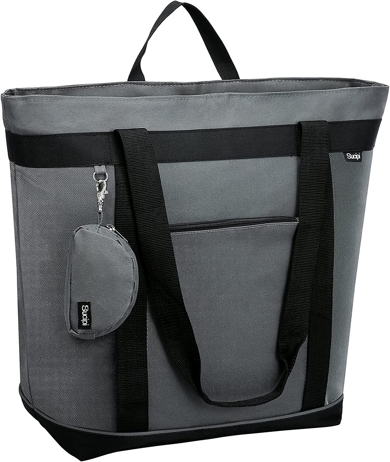 Sucipi Insulated Cooler Bag Insulated Tote Bag Transport Cold Or Hot Food Collapsible Grocery Cooler Bag