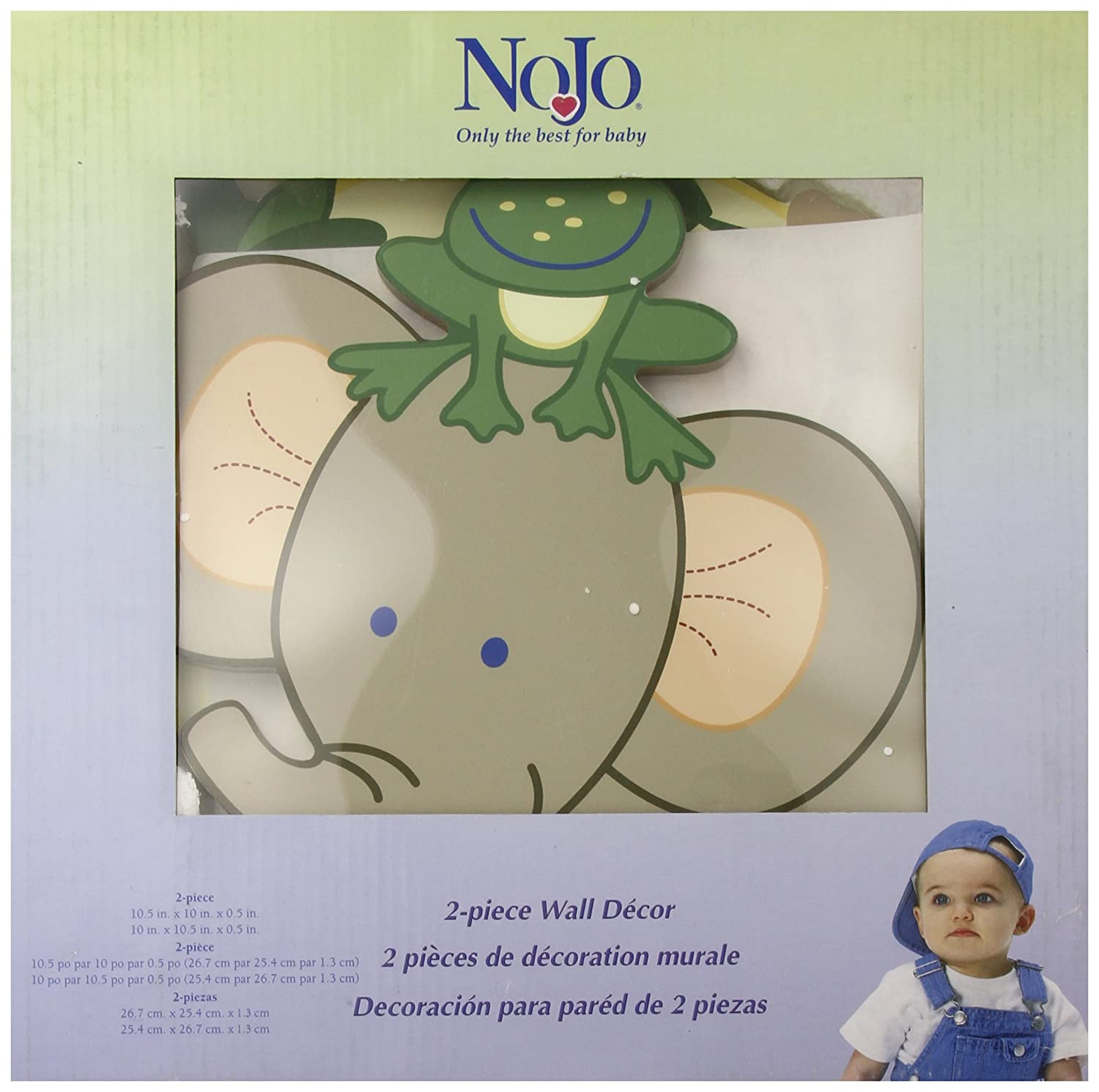 NoJo Jungle Babies Wooden Wall Art - 2-Piece