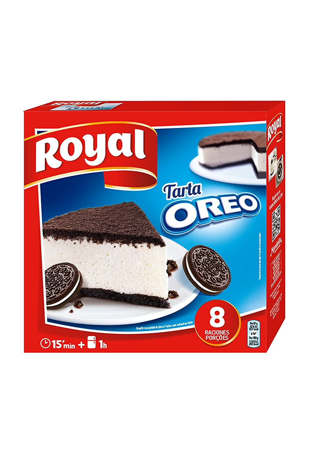 Royal Tarta Oreo No Horno - 215 g: Amazon.es: Amazon Pantry