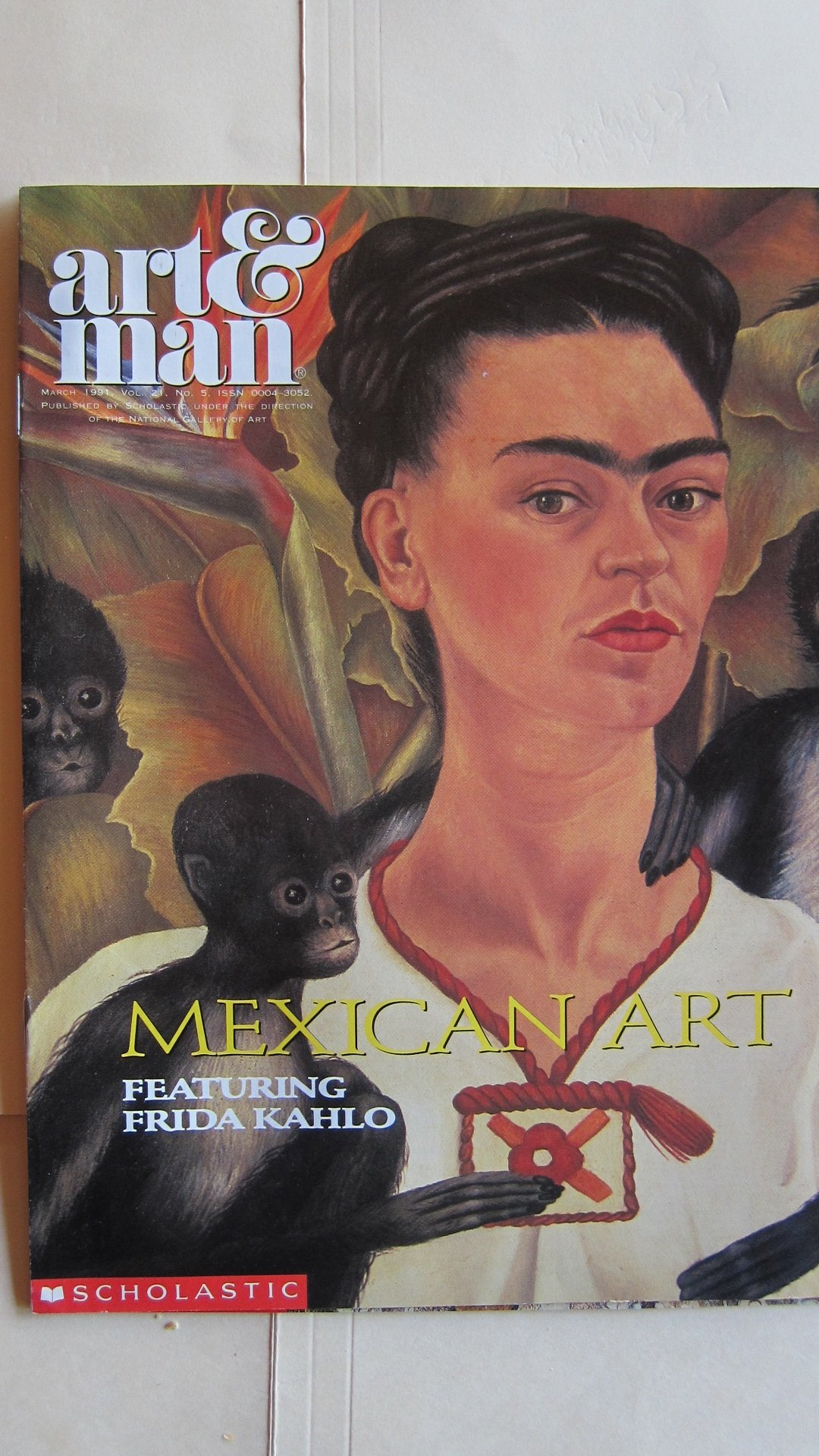 scholastic art magazine mexican art featuring frida kahlo march 1991 scholastic art magazine