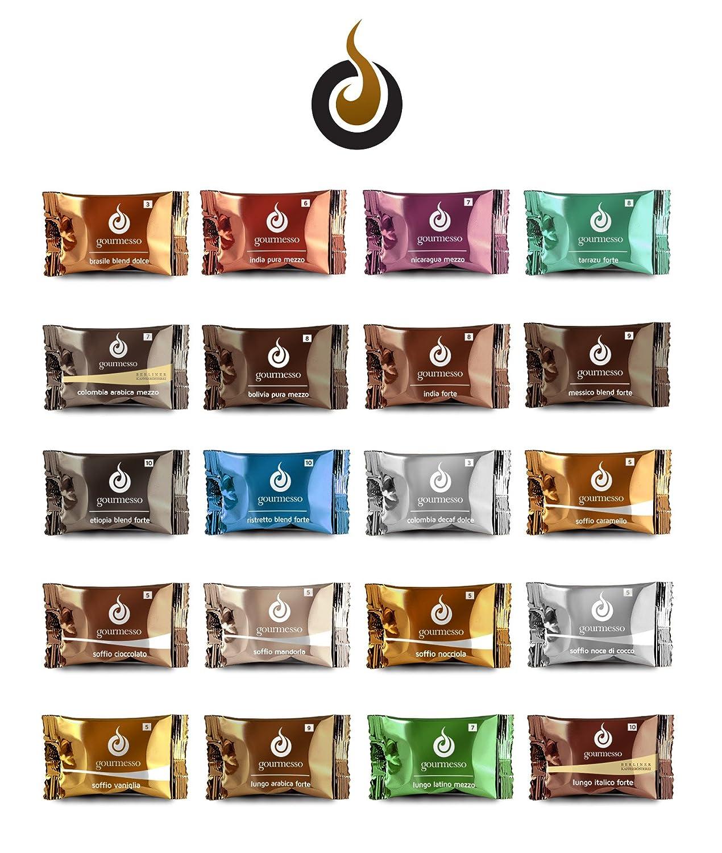 Cápsulas de Café Compatibles Nespresso® 0,26 & # x20AC;/cápsula Nespresso®: 60 Cápsulas en el Medium Pack Intense (Intens. 9 & 10): Amazon.es: Hogar
