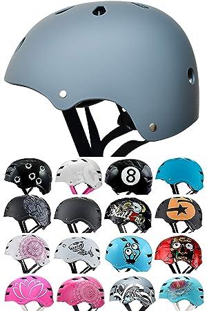 SkullCap® Casco BMX - Casco Skate - Casco Bici: Amazon.es ...