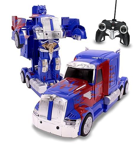 Amazon Com Rc Toy Transforming Robot Remote Control 27 Mhz Truck