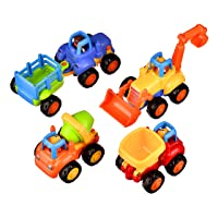 Coolecool Push and Go Pull Back Vehicles Friction Powered Cars for Baby Toys 18...