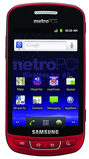 amazon com samsung admire prepaid android phone red metropcs rh amazon com