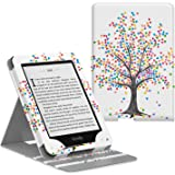 MoKo Case Fits Kindle Paperwhite (10th Generation, 2018 Releases), Premium Vertical Flip Cover with Auto Wake/Sleep Compatible for Amazon Kindle Paperwhite 2018 E-reader - Heart Tree