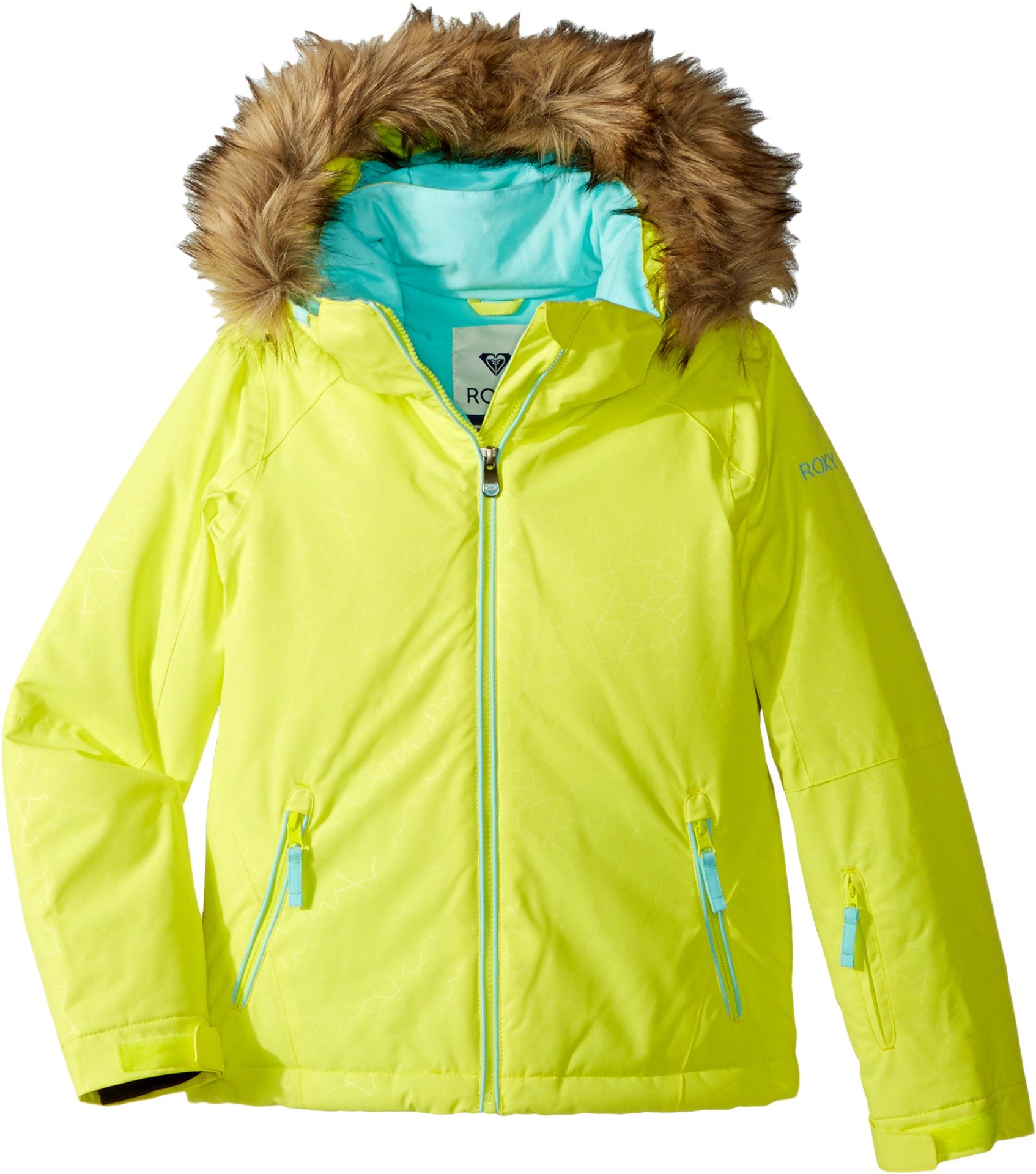 Roxy Big Girls' American Pie Solid Snow Jacket, Lemon Tonic_Gana Emboss, 14/XL by Roxy (Image #3)