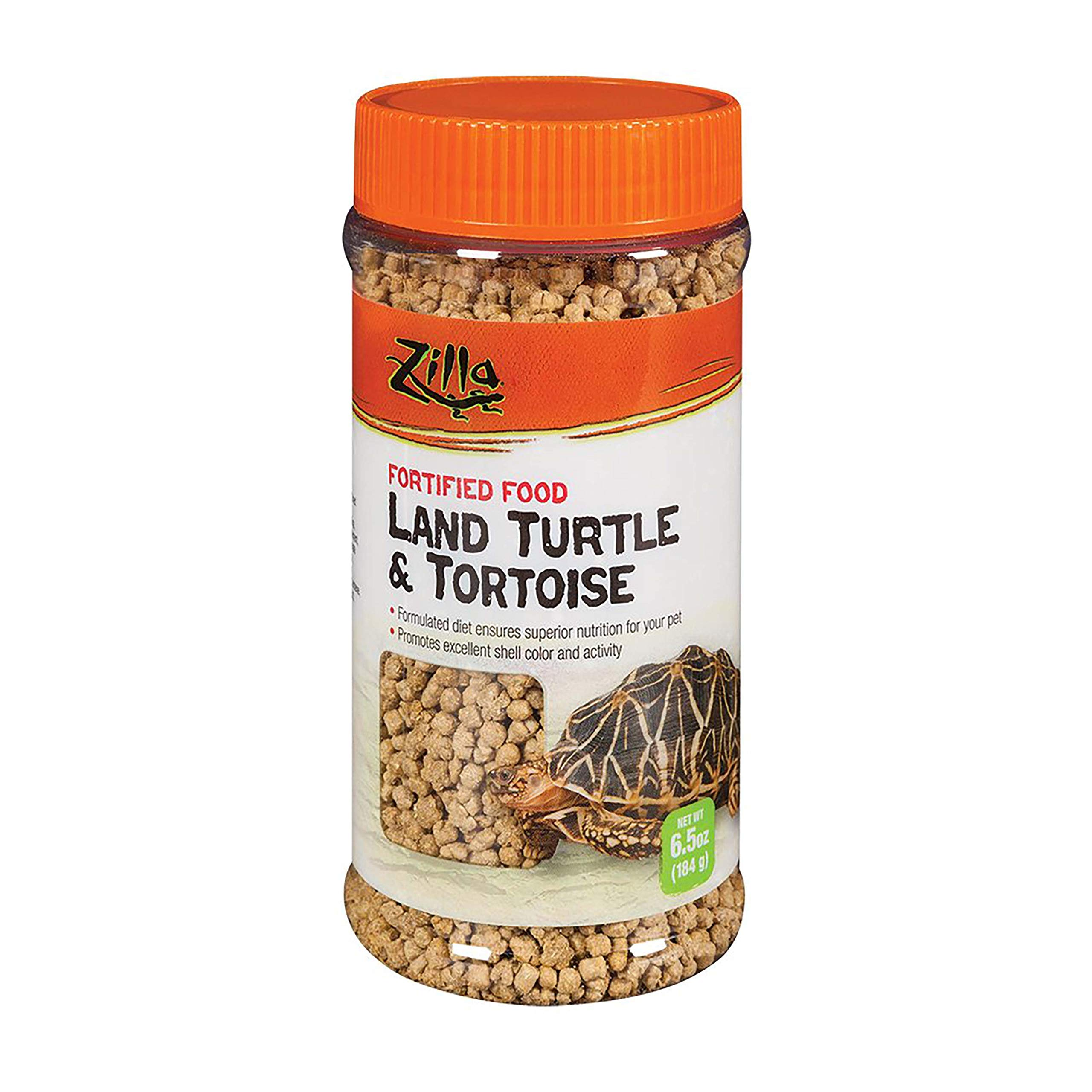 Zilla Reptile Food Land Turtle & Tortoise Fortified, 6.5-Ounce
