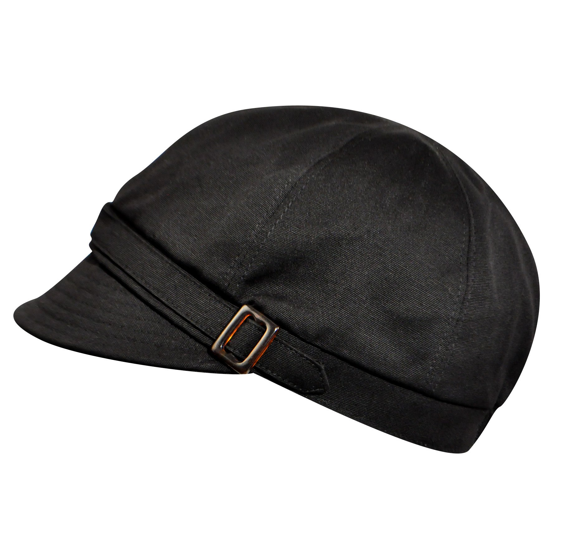 Betmar Women's Aimee Newsboy Cap, Black, One Size