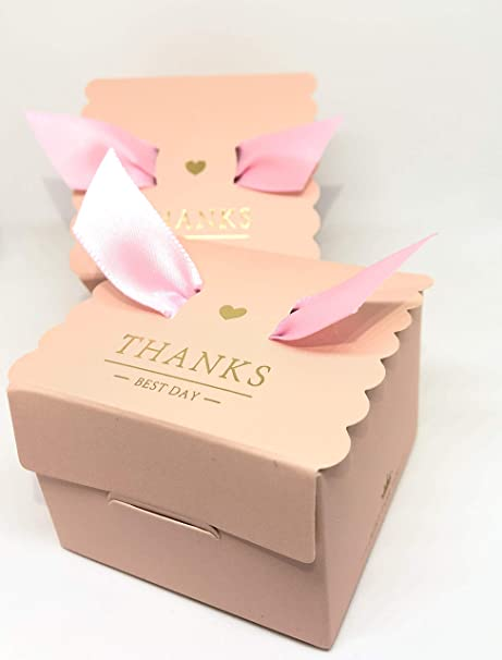 50 Cajas(Cajitas de carton) para detalles Boda, Cajitas para Comunion, Cumpleaños, Navidad, Fiestas infantiles, eventos. Cajitas prar regalos, bombones, chuches, caramelos. (Pinklady): Amazon.es: Hogar