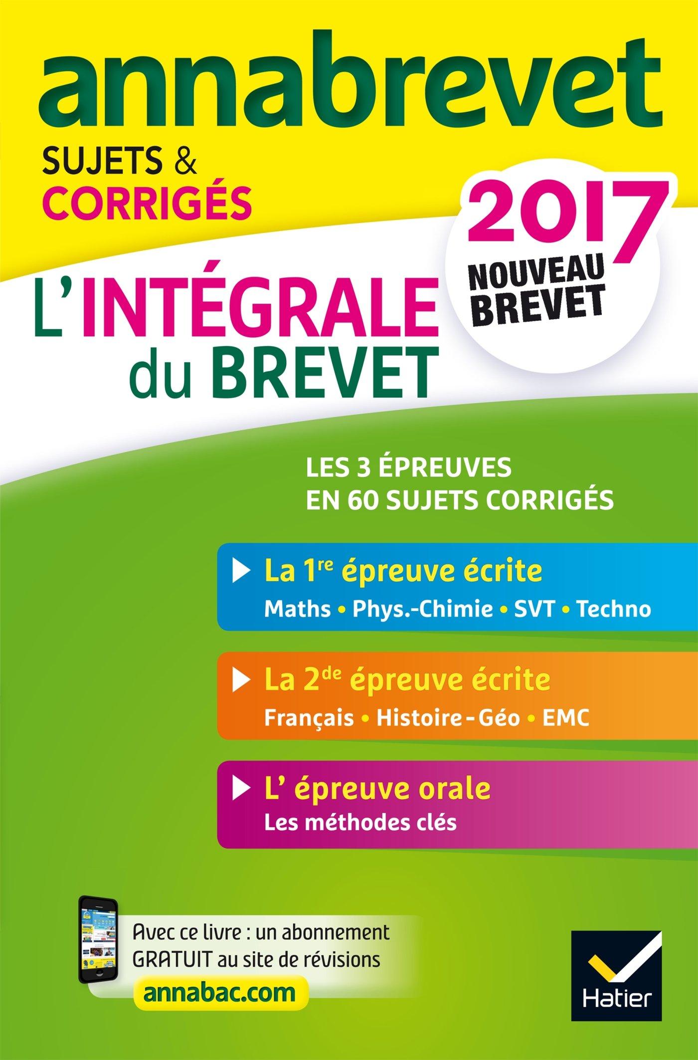 Annales Annabrevet 2017 Lintégrale du nouveau brevet 3e: sujets, corrigés & conseils de méthode: Amazon.es: Emmanuelle Michaud, Caroline Bureau, ...