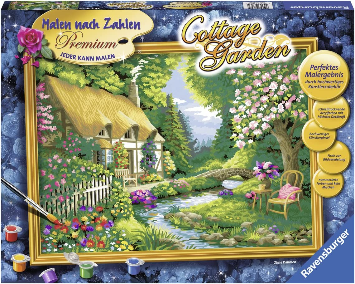 Ravensburger 10 10 Paint by Numbers Cottage Garden