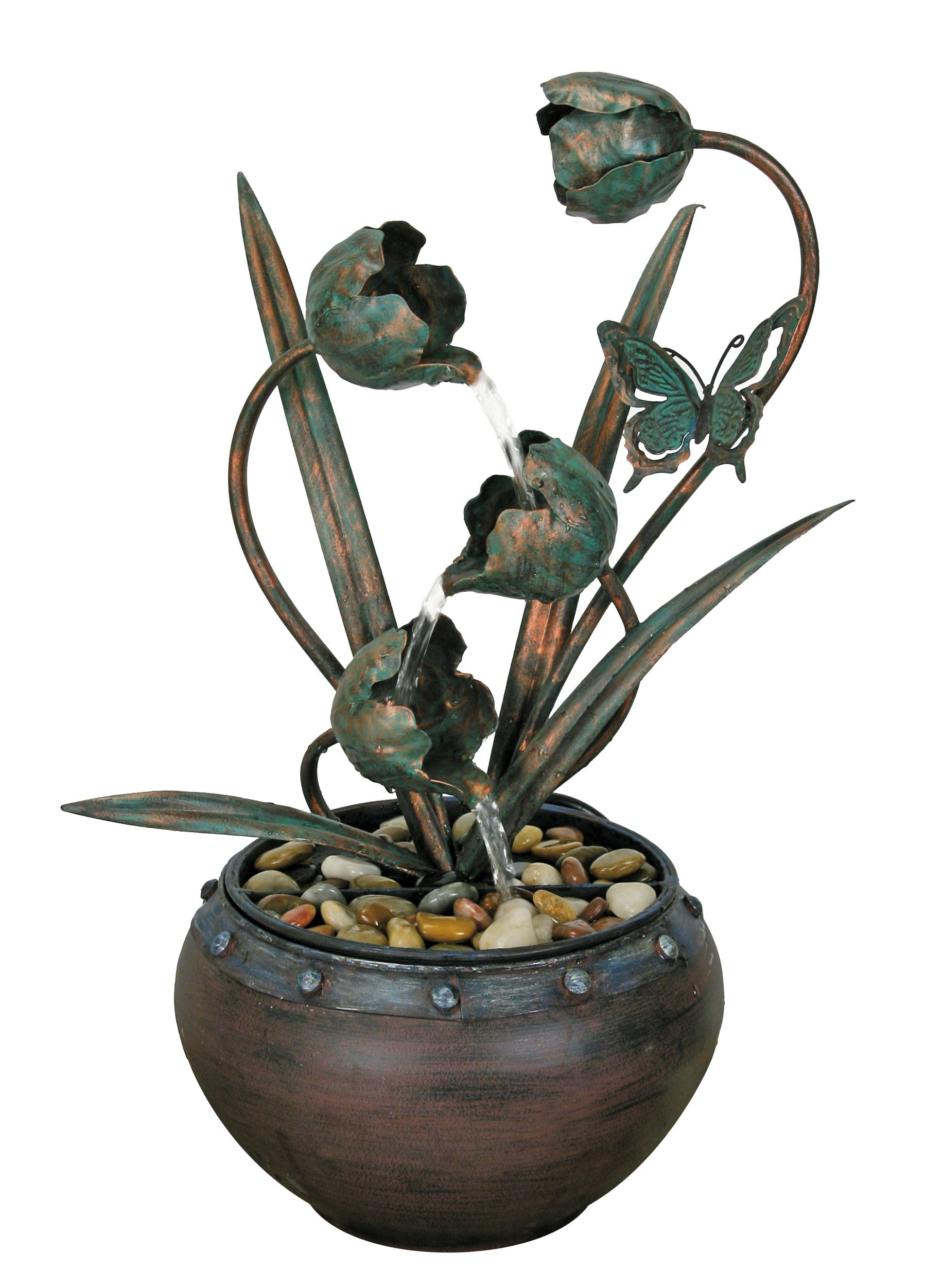 Nature's Garden Tulip Metal Fountain