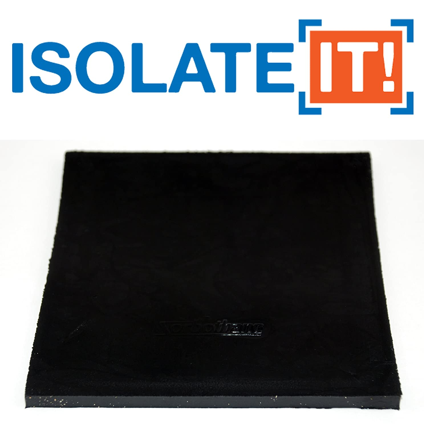 Isolate It Sorbothane Vibration Isolation Square Pad 0.25 Thick 6 X 6 70 Duro 2 Pads