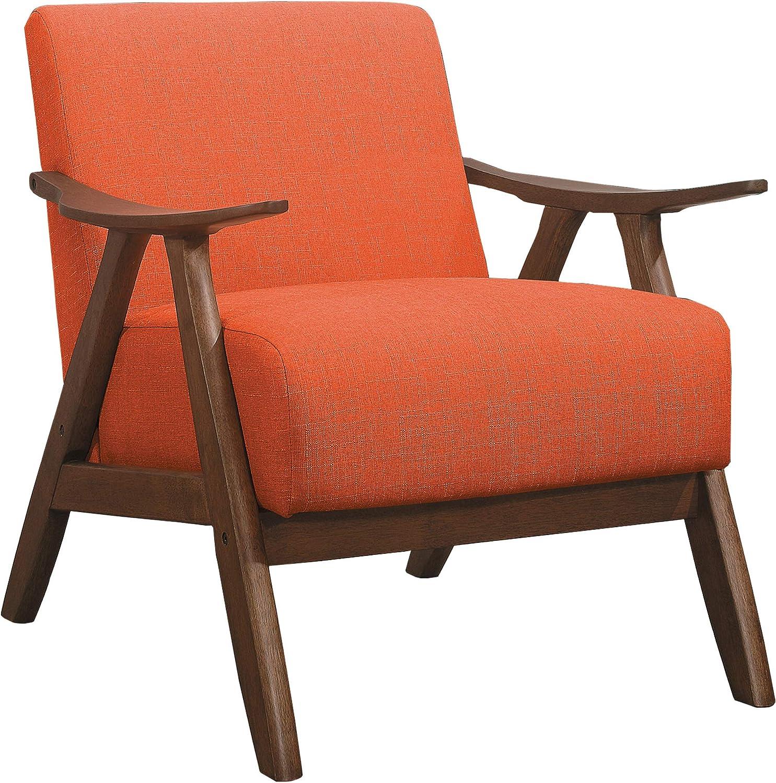 Lexicon Elle Fabric Accent Chair, Orange