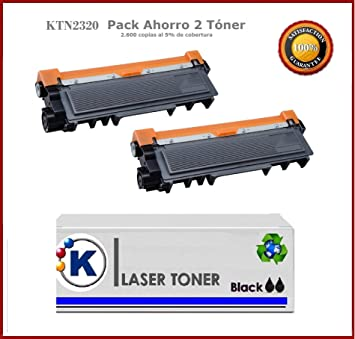 2KTN2320 Pack Ahorro 2 X TN2320 Toner compatible TN-2310 / TN-2320 ...