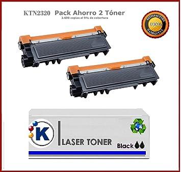 Pack Ahorro 2 X TN2320 Toner compatible con TN-2310 / TN-2320 de Alta Capacidad para uso en Impresora Multifuncion Brother MFCL2700DW