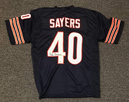 innovative design 6cb13 18a05 21512 Gale Sayers #40 Autographed Signed Chicago Bears ...