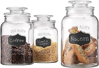 Home Essentials High-Quality Glass Chalkboard Jars