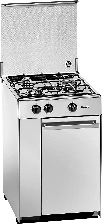 Meireles 5302DVW - Cocina (Gas natural, Convencional, Gas, Giratorio, Frente, 525 mm) Color blanco