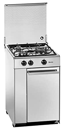 Meireles 5302DVW - Cocina (Gas natural, Convencional, Gas, Giratorio, Frente, 525 mm) Color blanco