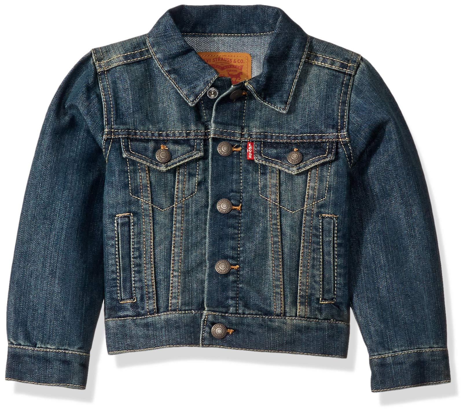 Levi's Boys' Big Denim Trucker Jacket, Fremont, M by Levi's