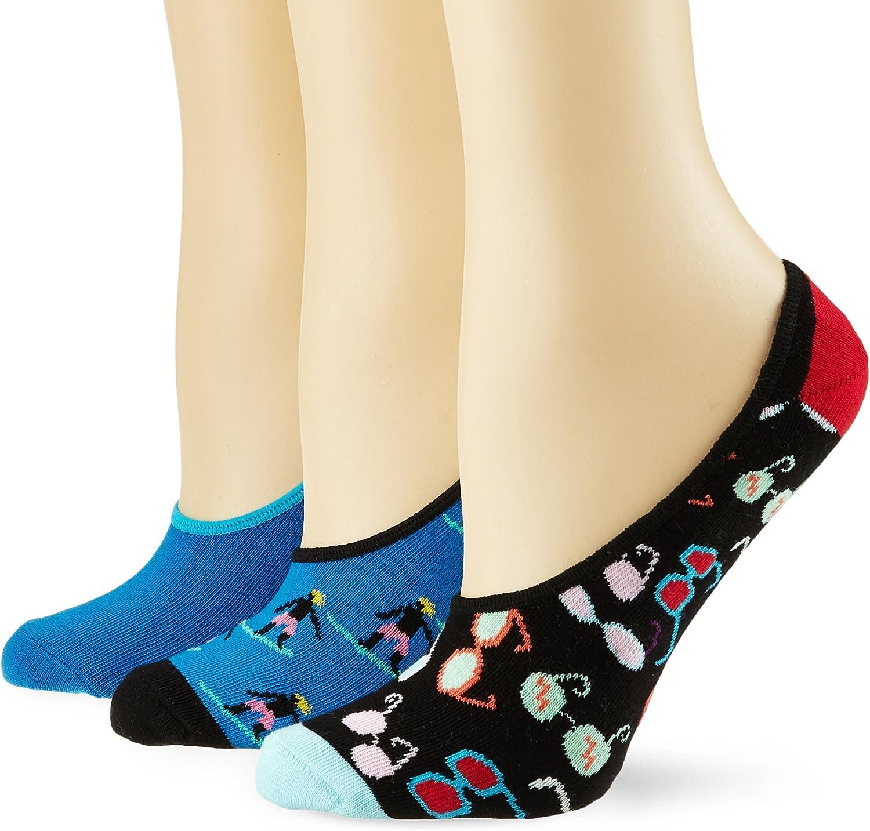 Happy Socks Limer Calcetines cortos, Azul (Navy 6000), 41-46 (Pack ...