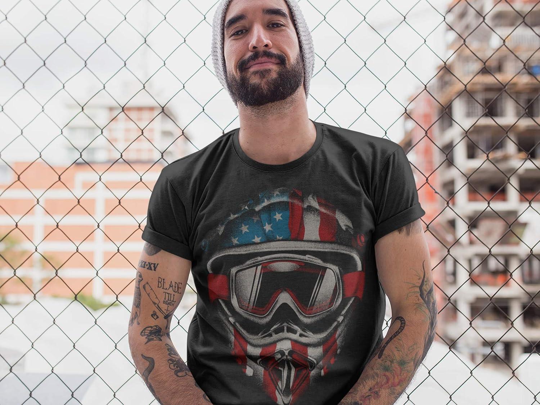 VTT Moto-Cross MX Id/ée Cadeau M/écanicien Quad Bikeur Motocycliste USA Homme-s Femme-s -Outdoor Moto-X Moto Tee-Shirt Motocycle Biker Noir T-Shirt: American Motocross
