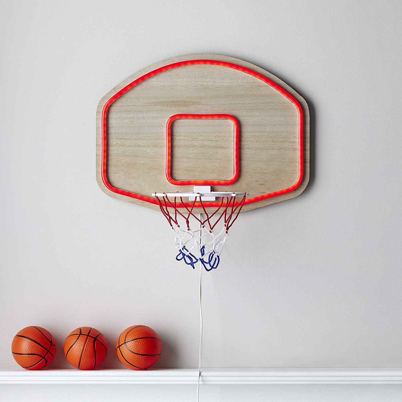 Lights4fun, Inc. Basketball Hoop Neon LED Light Up BedroomWall Light