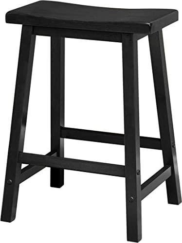 HFD Saddle Seat 24 Black Stool, Single, RTA