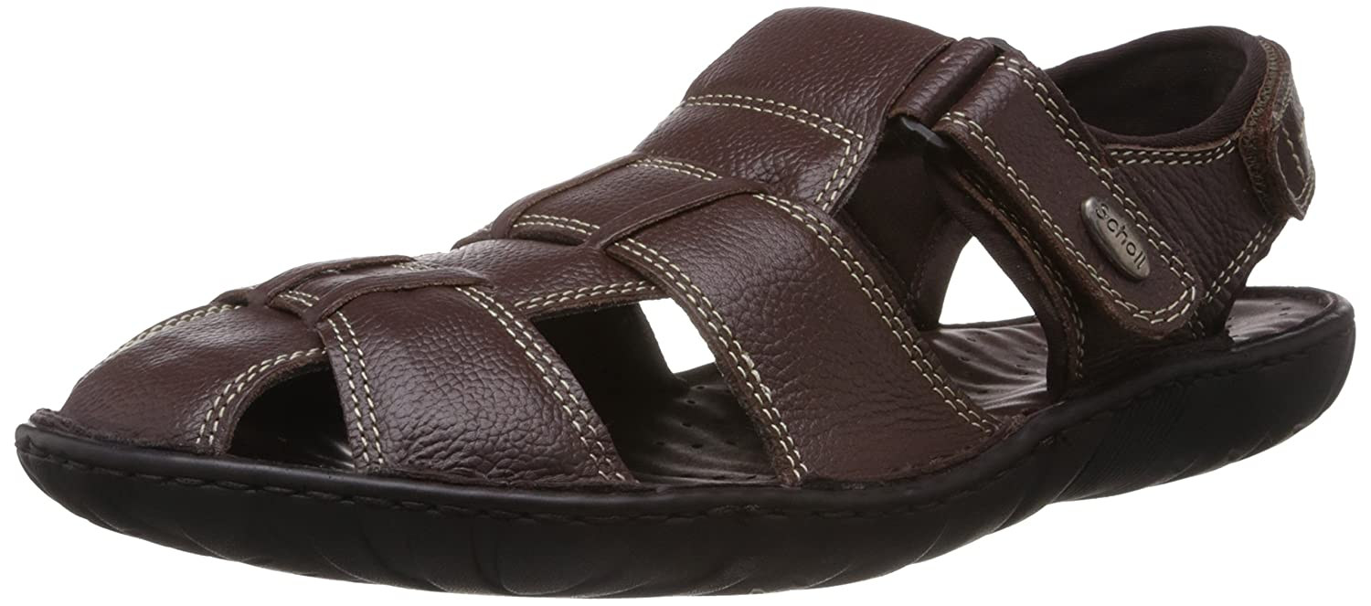 cf41b6c06 Scholl Men s Bolt Sandal Brown Leather Athletic   Outdoor Sandals - 11  UK India (45 EU) (8644875)  Buy Online at Low Prices in India - Amazon.in