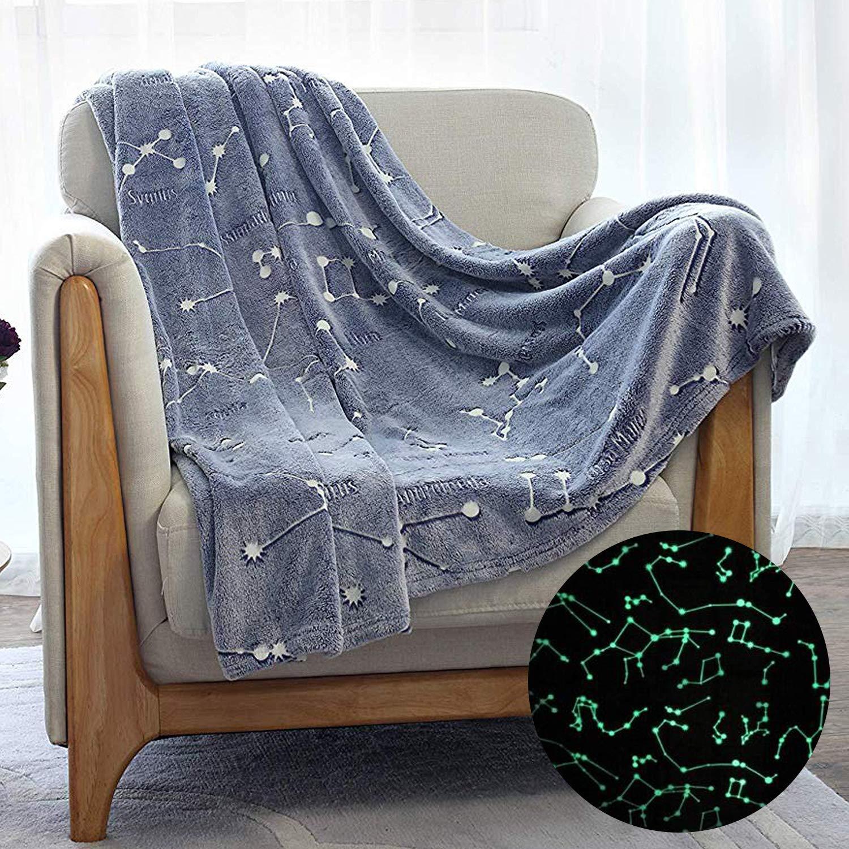 Kanguru Glow in The Dark Constellation Blanket, Gifts for Teens Kids Women Girls Best Friend by Kanguru