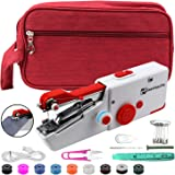 SeamlessFix Handheld Sewing Machine + Sewing Bag, Portable Hand Sewing Machine Cordless, Simple Sewing Machine for Beginners,
