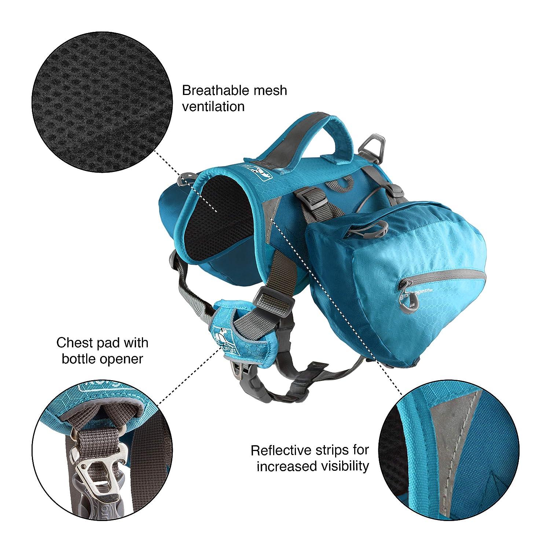 Kurgo Dog Backpack Back Pack for Dogs Dog Backpacks for Pets to Wear Pet Harness Backpack Saddlebag Hiking Camping Travel