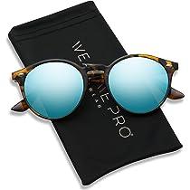 e9f8e1b611c4 ... Frame Polarized Semi-Rimless Rimmed Sunglasses · WearMe Pro - Classic  Small Round Retro Sunglasses
