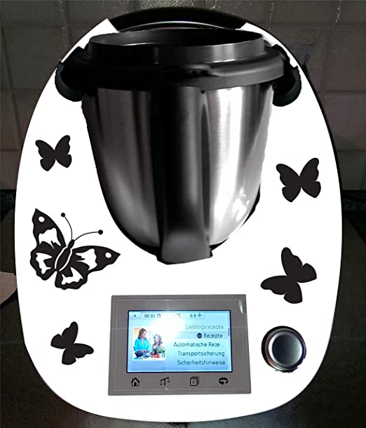 Grafix - Pegatinas para Thermomix TM 5 y TM 6, diseño de mariposas: Amazon.es: Hogar