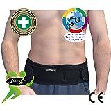 flexiSPORT Airflow Stützgürtel für die Lendenwirbelsäule, moderne Antischwitz-Technologie, atmungsaktives Material, zum Tragen unter der Kleidung, keine Hautreizungen, stabilisiert die Wirbelsäule, nicht einengend