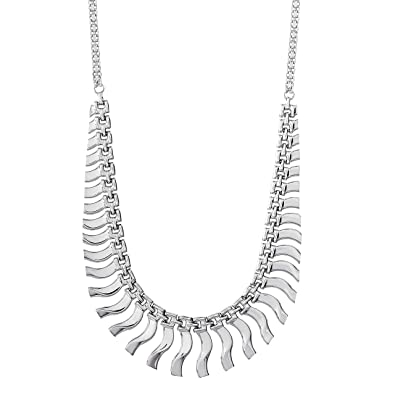 59374d6af72f61 Amazon.com: Ellen Tracy Sterling Silver Cleopatra Statement Bib Necklace:  Jewelry