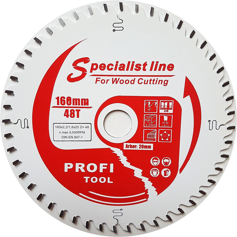 Herramienta de profesional de Alemania–Hoja de sierra circular (160x 2,2x 20z = 48Wz corte fino con revestimiento antiadherente