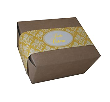 """Das-label   cajas de regalo """"feliz pascua para rellenar, en amarillo"""