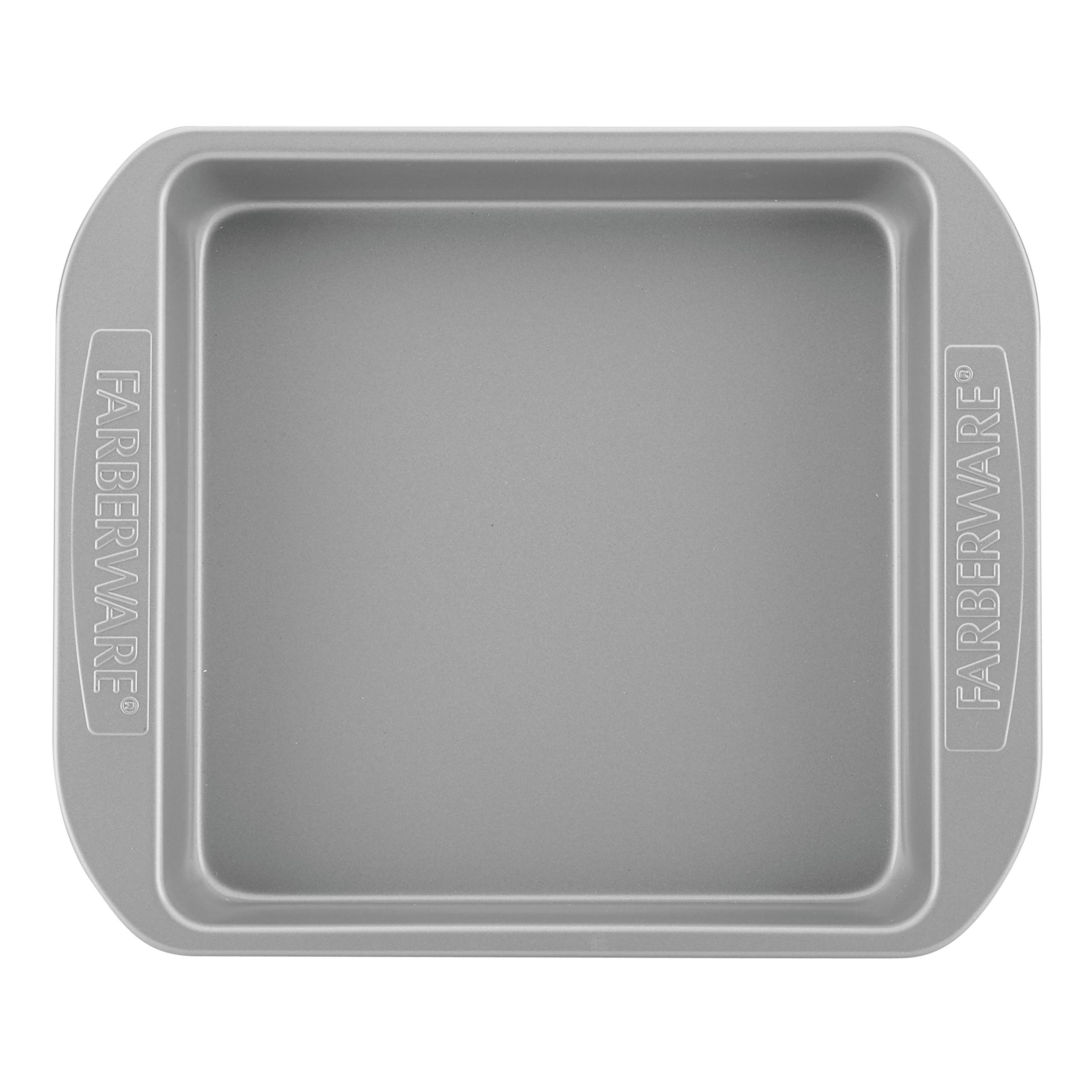 Farberware 47744 2-Piece Rectangular Set Steel Cake Pan, Gray by Farberware (Image #2)