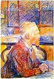 Henri de Toulouse-Lautrec Portrait of Van Gogh Art Print Poster 13 x 19in