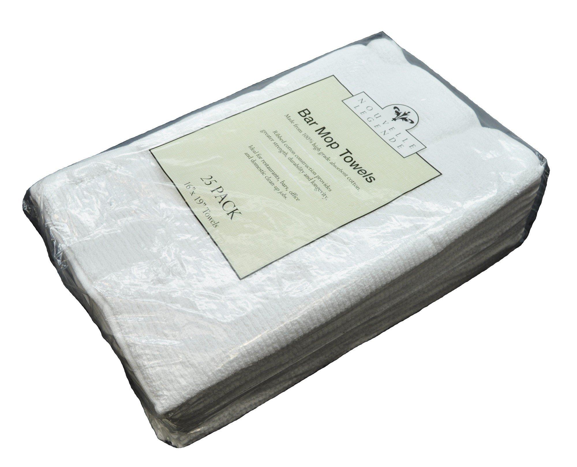 Nouvelle Legende Cotton Bar Mop Ribbed Towels Commercial Grade (25-Pack) by Nouvelle Legende (Image #5)