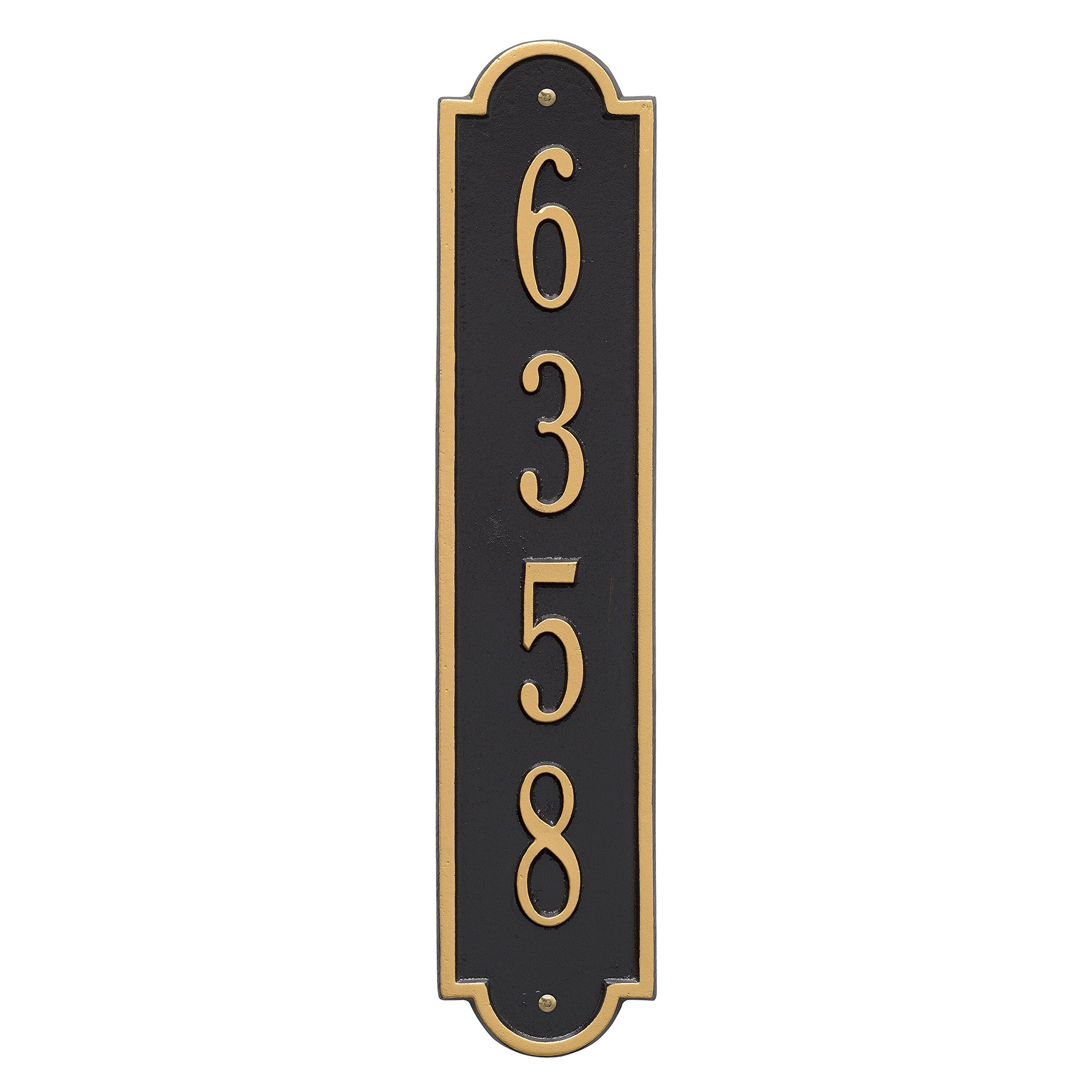 Richmond Vertical Address Plaque 4''Wx19''L (1 Line)