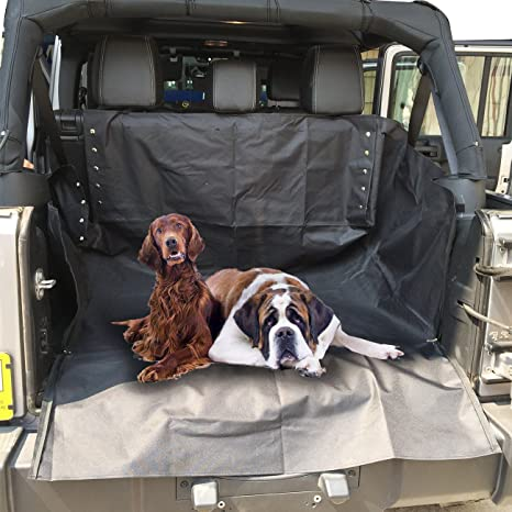Rear Seat Cover Storage Mat Dog Cat Pets Mat For 2007-2017 Jeep Wrangler 4-door