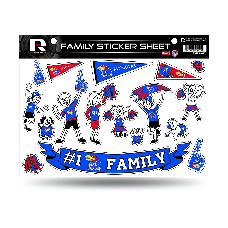 Rico NCAA Unisex-Adult Family Sticker Sheet