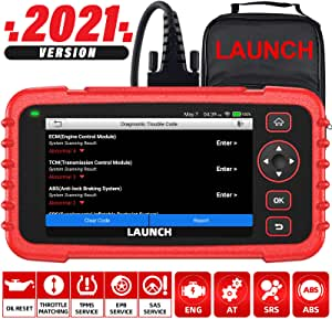 LAUNCH OBD2 Scanner CRP129X Car Code Reader Scan Tool for ABS SRS Transmission Engine Diagnostic, Oil Reset, EPB/SAS/TPMS Reset, Throttle Matching Android 7.0 Based WiFi AutoVIN Lifetime Free Update
