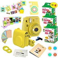 Fujifilm Instax Mini 9 Instant Camera w Instax Mini 9 Instant Films (60 Pack) + A14 Pc Deluxe Bundle Instax Mini 9…