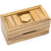 Puzzle Gift Case Box and Magic Cards Case Holder with Hidden Compartments in Unique Wooden Boxes to Challenge Mind…
